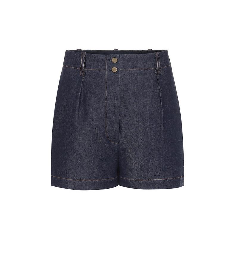 Alaïa High-rise denim shorts in blue