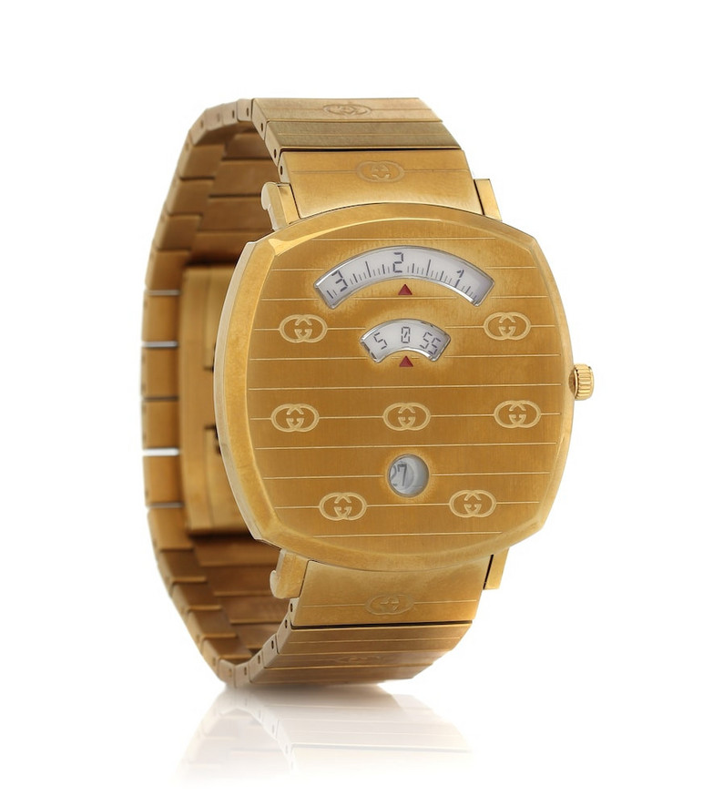 Gucci Grip 35mm stainless steel watch in gold