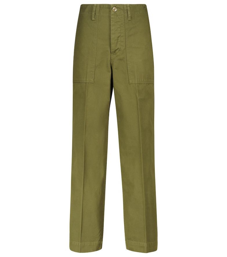 VISVIM Trade Wind cotton cargo pants in green
