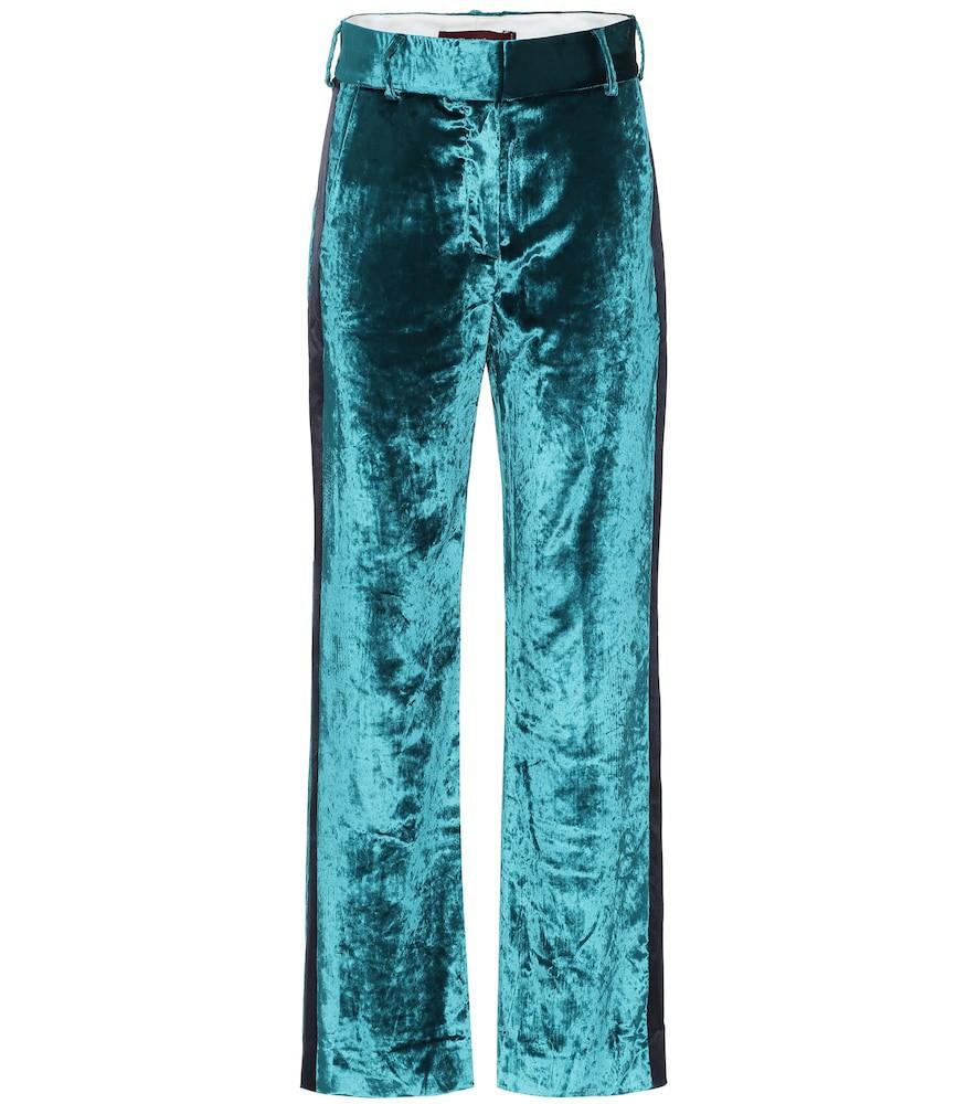Sies Marjan Sonya high-rise velvet pants in green