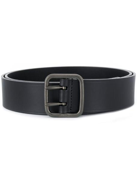 Gucci embossed logo belt in black