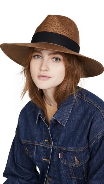 Janessa Leone Corbin Hat in brown