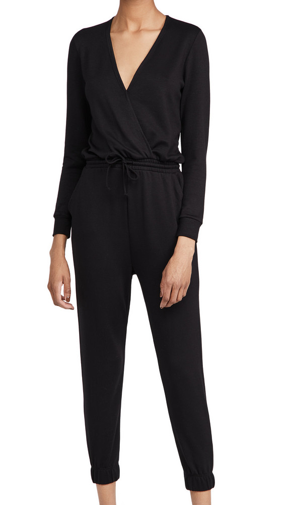 Beyond Yoga Overlapping Jumpsuit in black