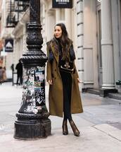 dress,long coat,double breasted,plaid,ankle boots,heel boots,black leggings,crossbody bag,turtleneck sweater