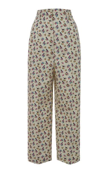 Prada Printed Silk Trouser in print