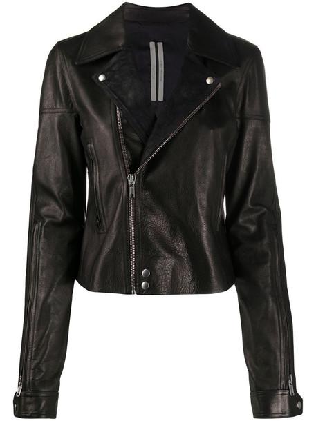Rick Owens DRKSHDW biker jacket in black
