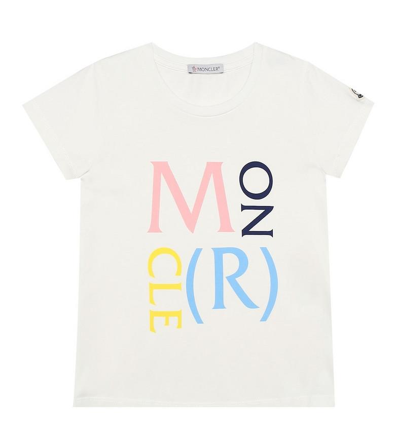 Moncler Enfant Logo stretch-cotton T-shirt in white