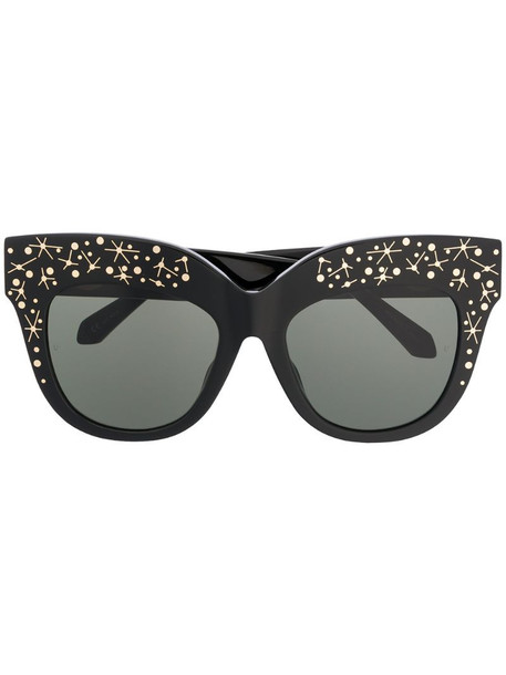 Linda Farrow oversized cat-eye tinted sunglasses in black
