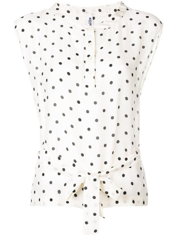 Moschino Pre-Owned 2000's spotted print blouse in neutrals