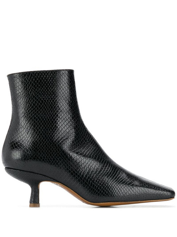 BY FAR Lange ankle boots in black