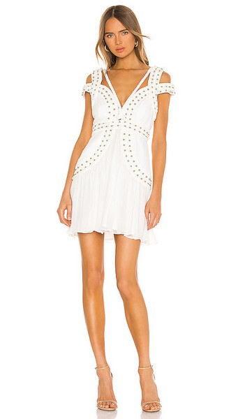 THURLEY X REVOLVE Mood Crest Mini Dress in White in ivory