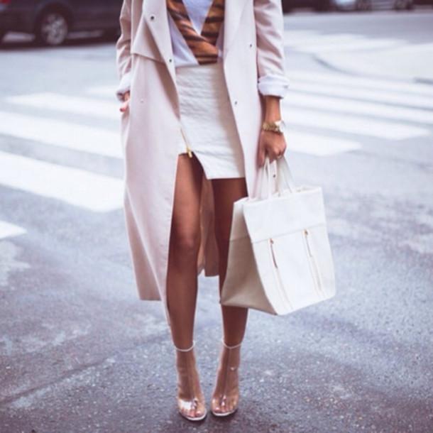 jacket long beige