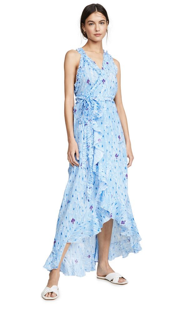 Poupette St Barth Tamara Long Dress in blue