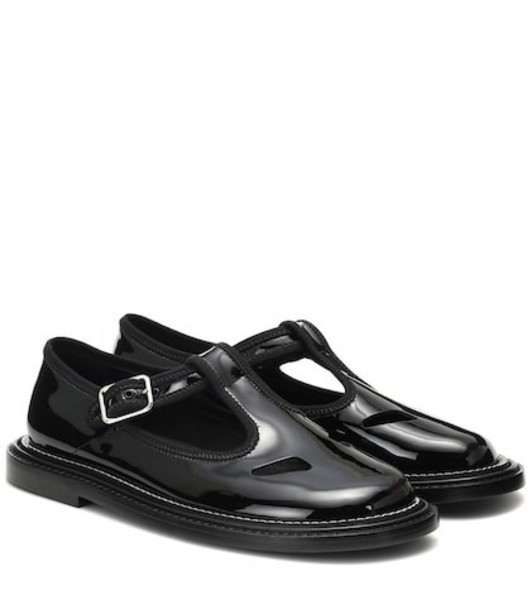 Burberry Alannis patent leather Mary Jane flats in black