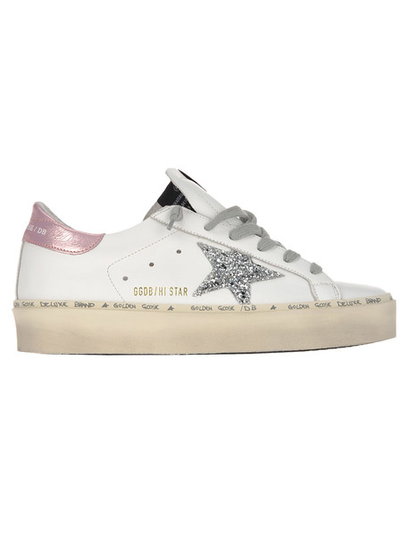 Golden Goose Hi Star Sneakers in pink / silver / white