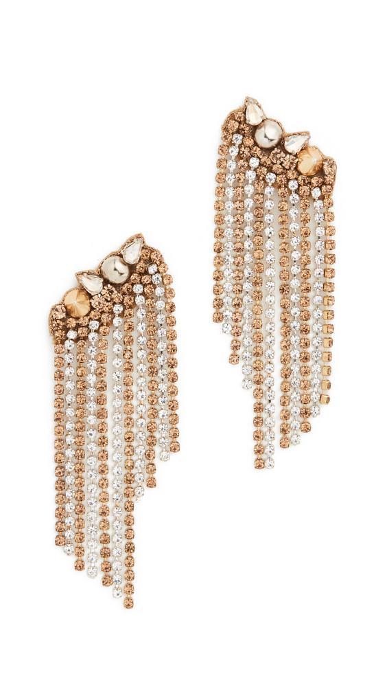 Deepa Gurnani Zadi Earrings in gold