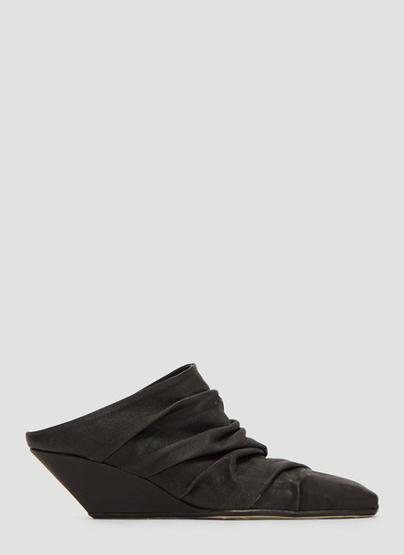Rick Owens Walrus Silvers Sock Wedge Boots in Black size EU - 37