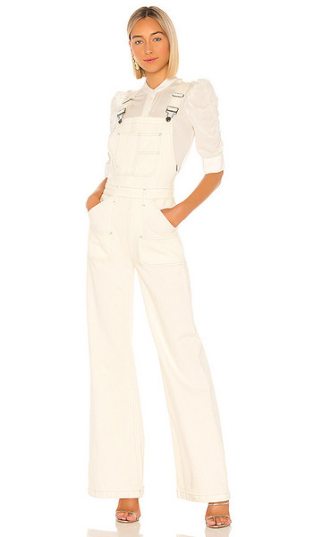 FRAME Carpenter Color Jumpsuit in white
