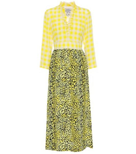 Baum und Pferdgarten Exclusive to Mytheresa – Allydia silk-blend crêpe dress in yellow