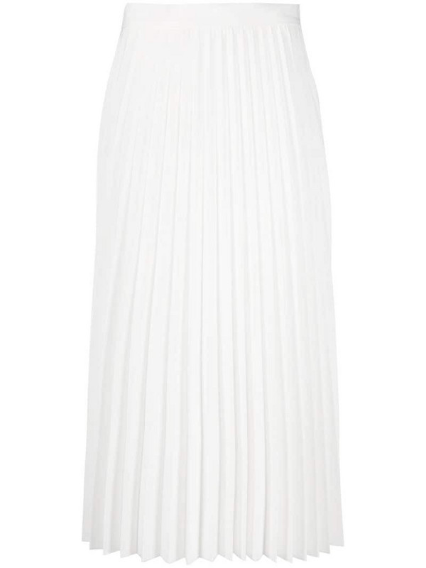 Blumarine high-waisted pleated skirt in white