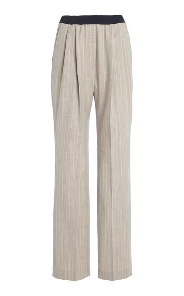 Loulou Studio Moretta Stretch-Wool Pants in neutral