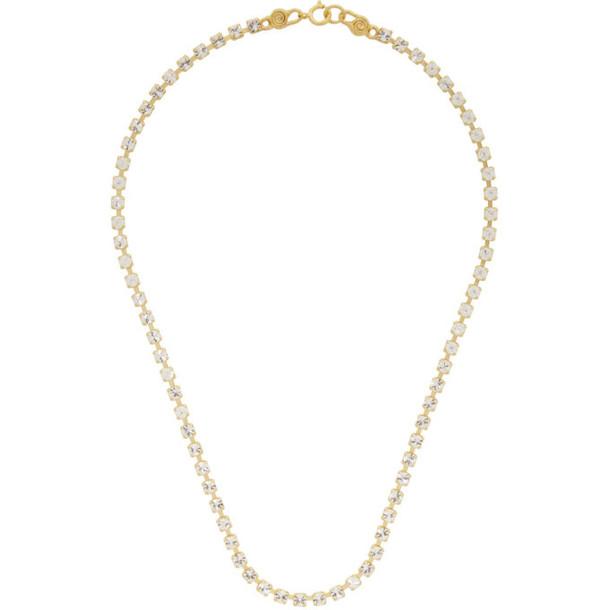 Mondo Mondo Gold Crystal Choker Necklace