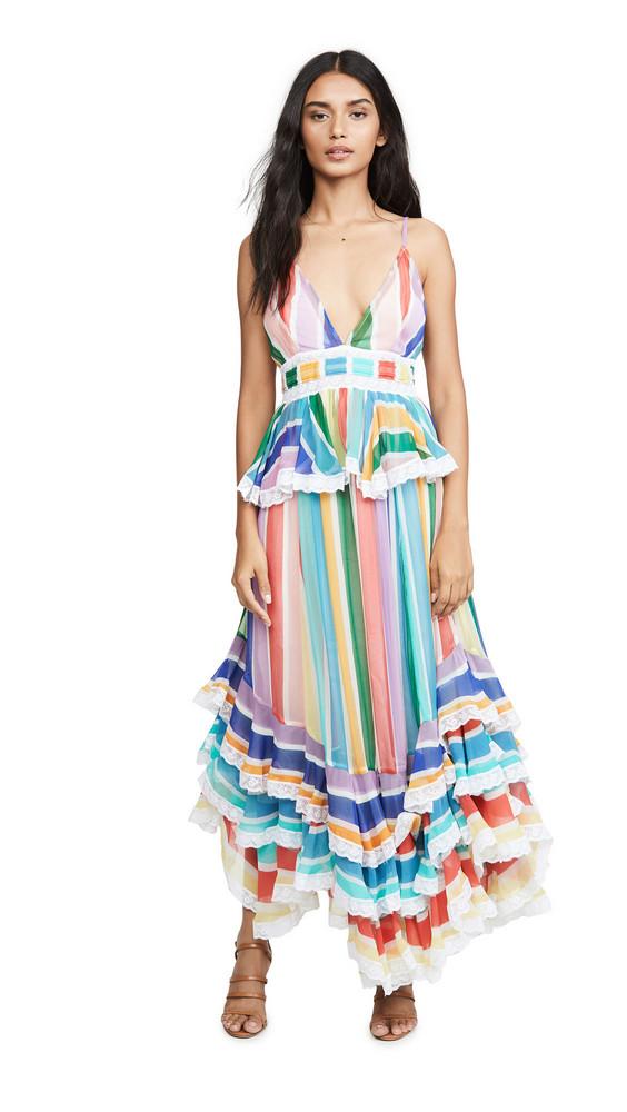 ROCOCO SAND Rainbow Long Dress in multi