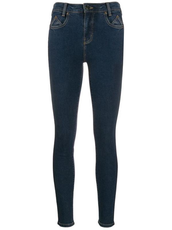 Current/Elliott high-rise skinny jeans in blue