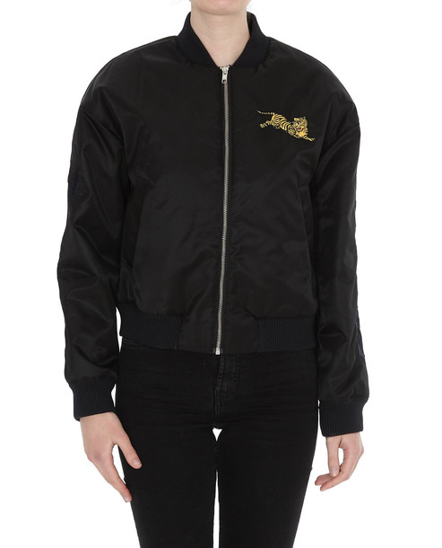 Kenzo Jumping Tiger Bomber Jacket in black
