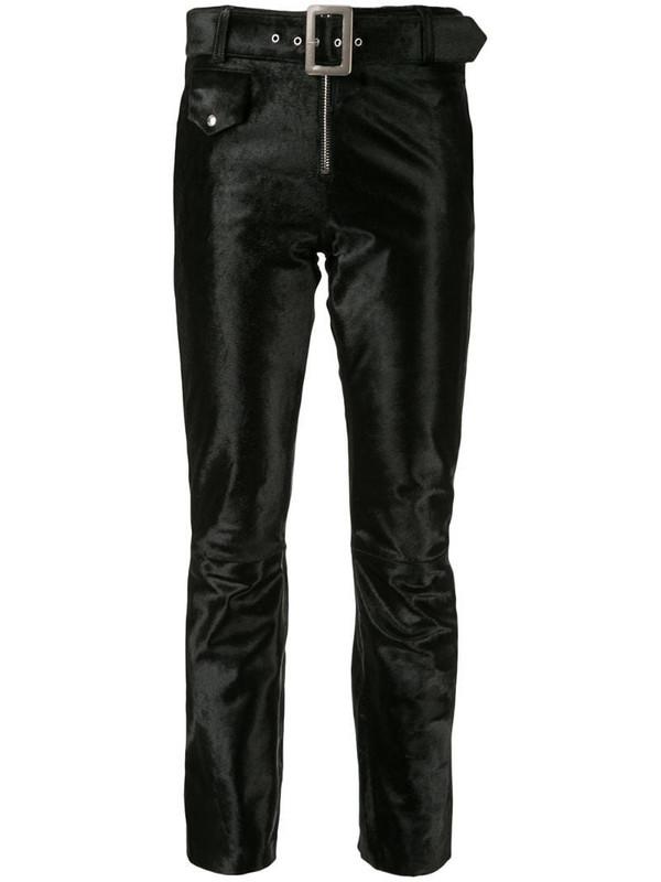 Yang Li velvet cropped trousers in black