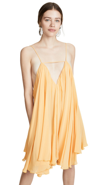 Jacquemus Belezza Mini Dress in orange