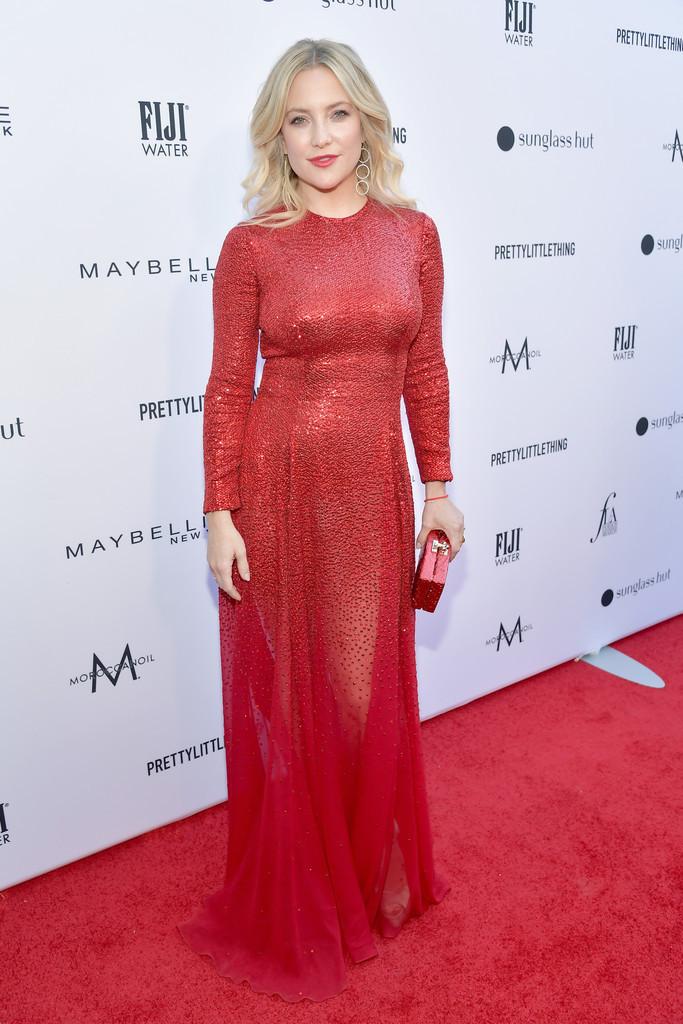 dress maxi dress red dress red red carpet dress kate hudson celebrity gown