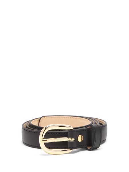 A.P.C. A.P.C. - Rosette Leather Belt - Womens - Black