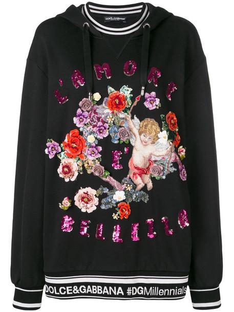 Dolce & Gabbana L'Amore è Bellezza sequin embellished hoodie