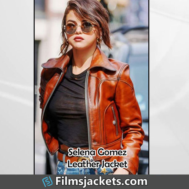 coat street  wear selena gomez leather jacket jacket fashion style outfit womens fashion women's outfit womenswear