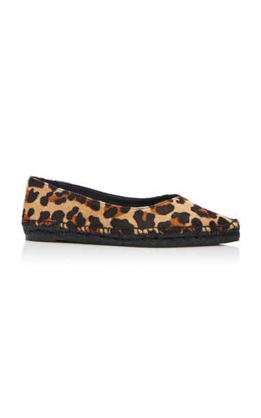 Castañer Rosme Leopard-Print Calf-Hair Espadrilles in blue