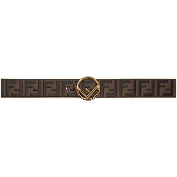 Fendi Black and Brown Forever Fendi Belt
