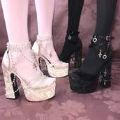 shoes,heels,heel boots,goth shoes,gothic lolita,goth