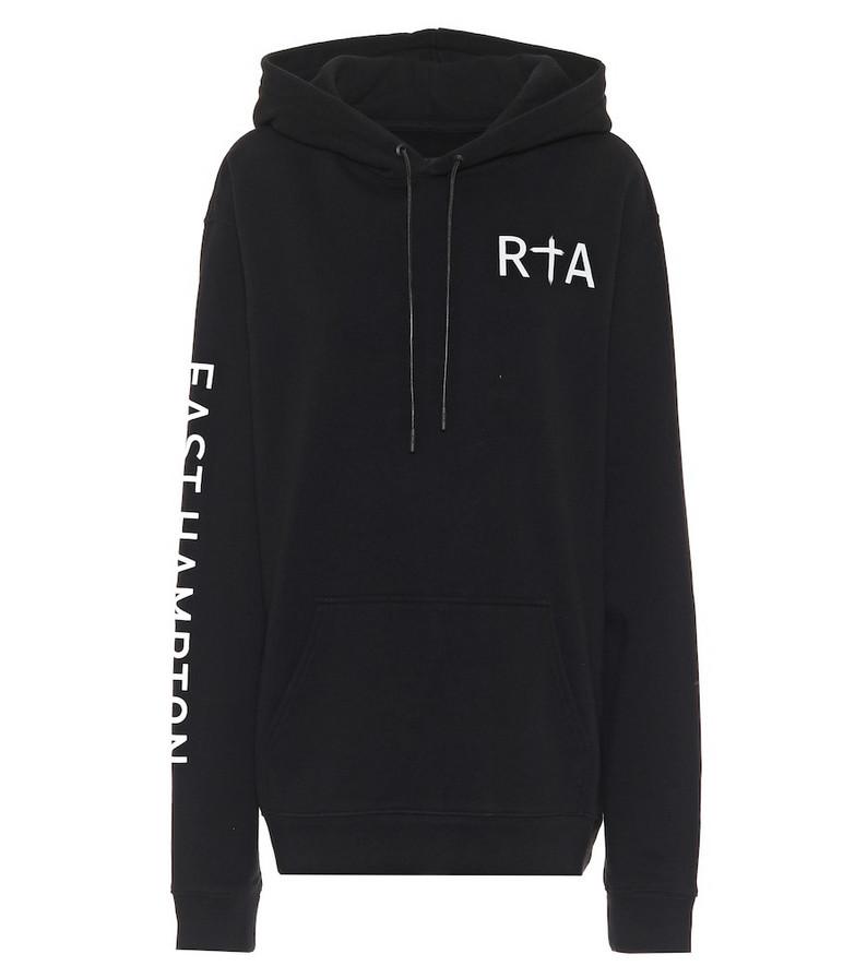 RtA Markus logo cotton hoodie in black