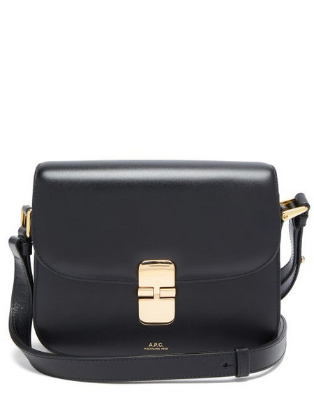A.P.C. A.P.C. - Grace Small Smooth-leather Cross-body Bag - Womens - Black