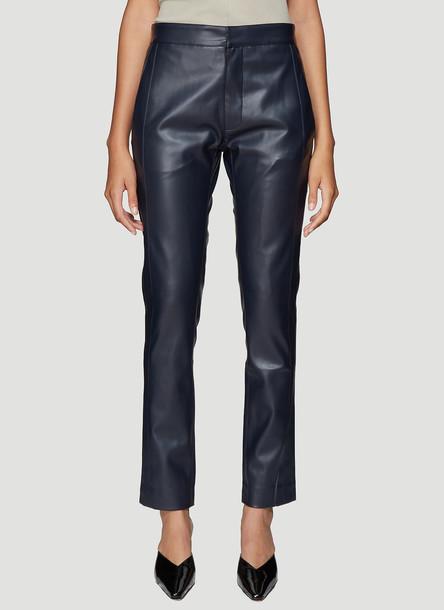 Roni Ilan Faux Leather Pants in Navy size L