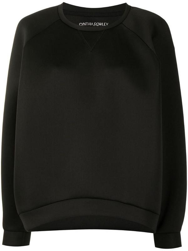 Cynthia Rowley crew-neck sweatshirt in black