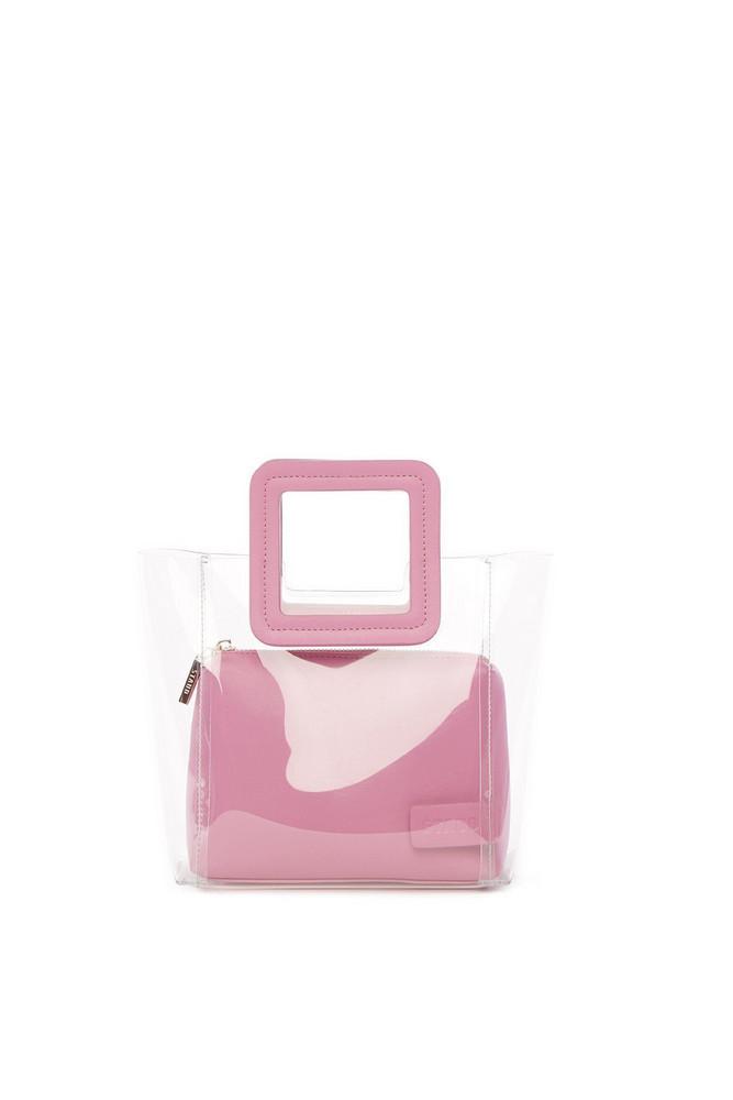 Staud Mini Shirley Bag | Clear Pink