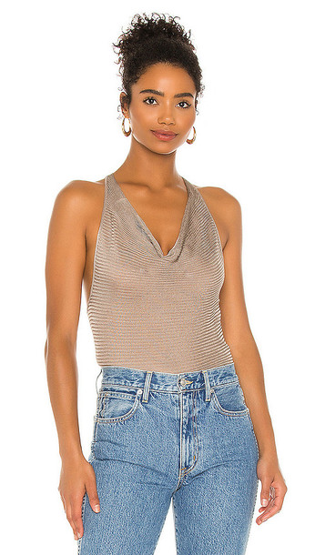 Free People So You Sweater Cami in Taupe in grey