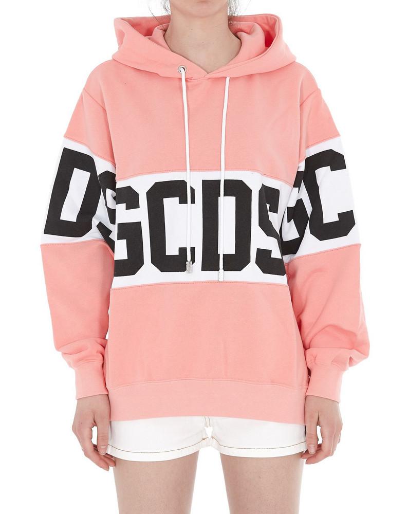Gcds Logo Hoodie in pink