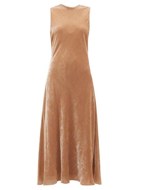 Sies Marjan - Viv Flared Velvet-corduroy Dress - Womens - Beige