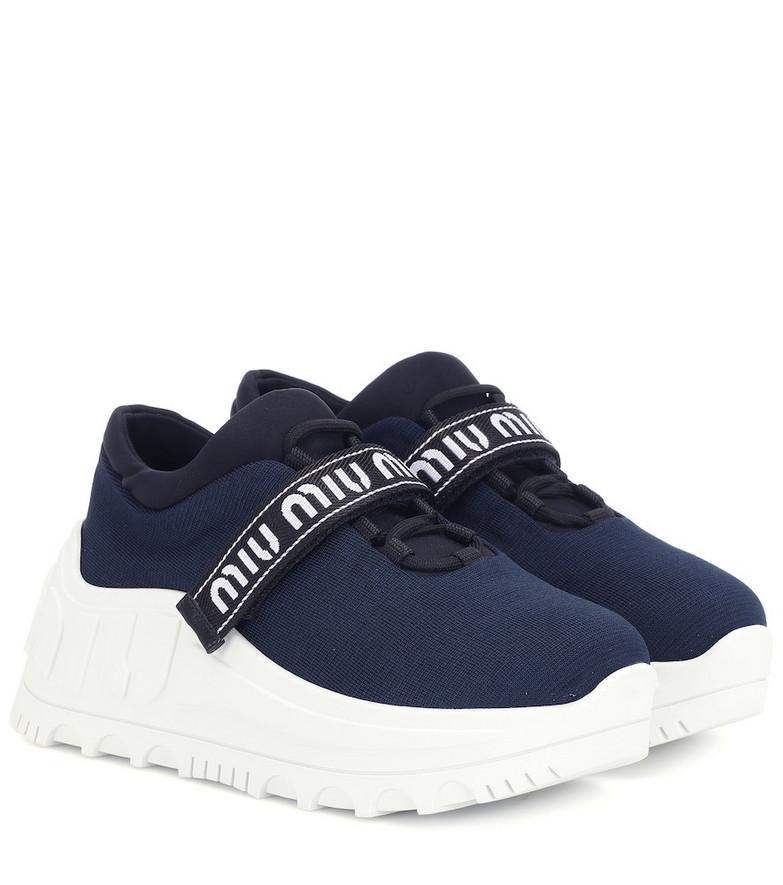 Miu Miu Platform sneakers in blue