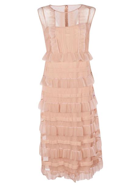 Valentino Ruffled Dress in pink