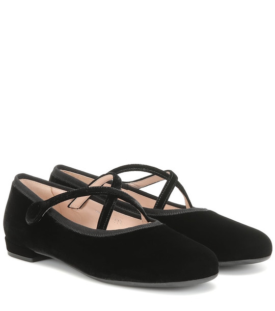 Miu Miu Velvet ballet flats in black
