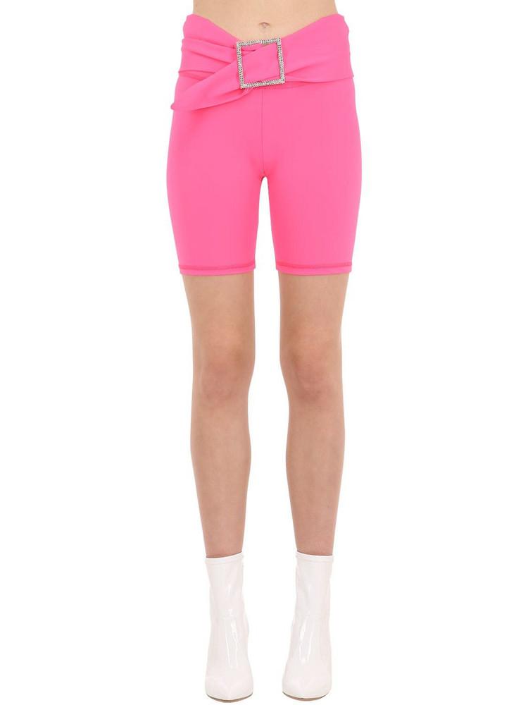 AYA MUSE Micro Nylon Biker Shorts in coral